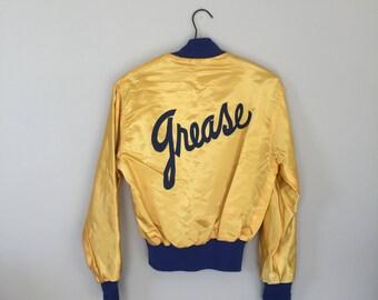 Vintage 80s Silk Grease Jacket