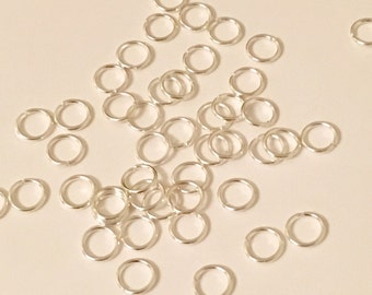 10 pcs 925 Sterling Silver Jump Rings 8mm | 178-Sil