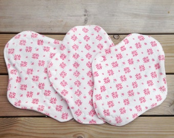 """Cotton velour cloth pad - day cloth pad - normal flow cloth pad - mama pad - 9"""" cloth pad - reusable cloth pad - rumps"""