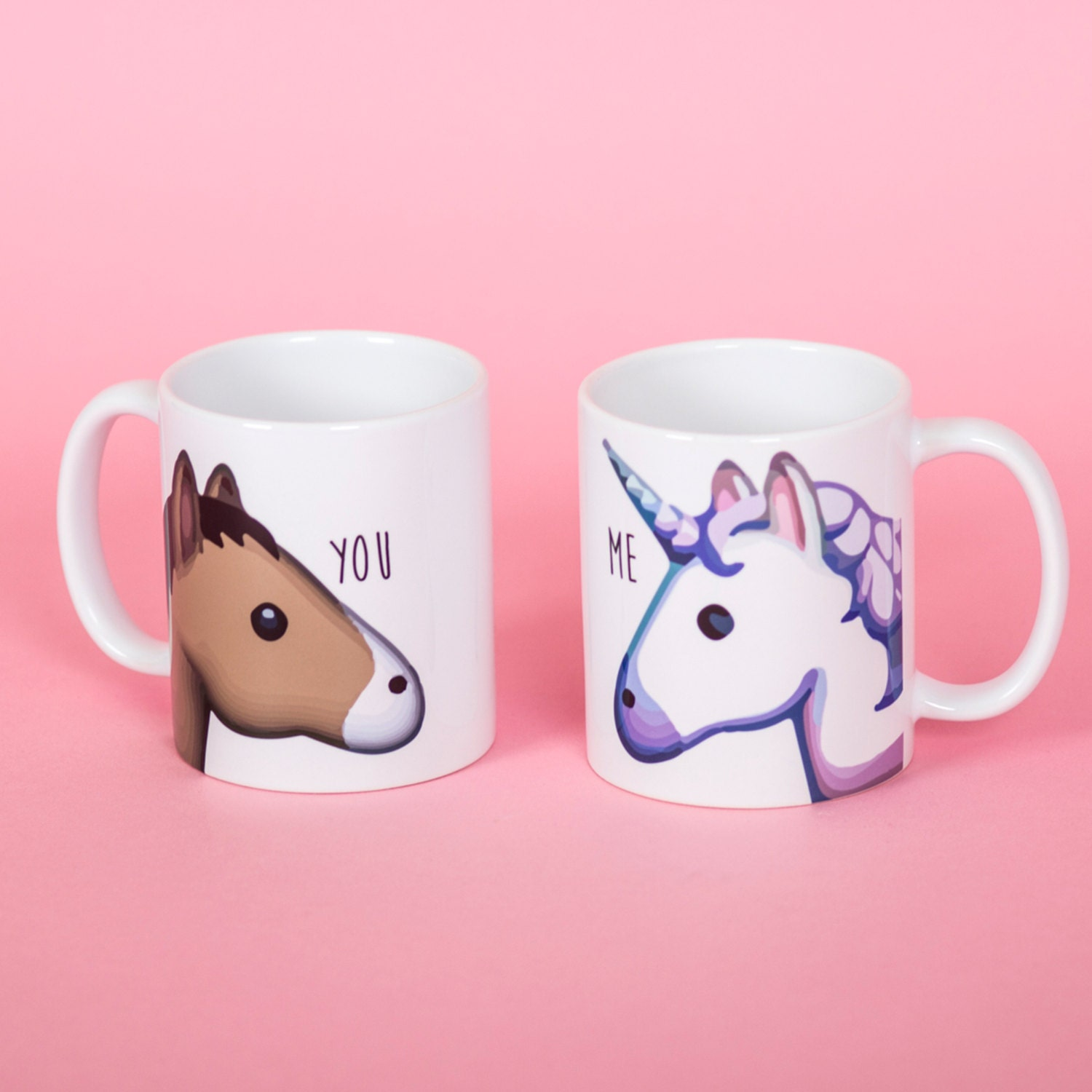 licorne et cheval emoji vous et moi mug tasse dr le rude. Black Bedroom Furniture Sets. Home Design Ideas