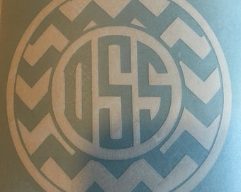 Chevron Monogram Decal~47 Colors to choose from~
