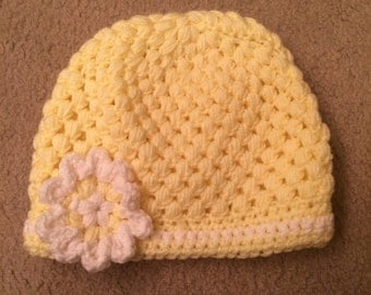 Childs Sunflower Yellow Beanie