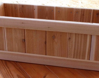 """Our 48"""" Rectangle Planter Box Made Of Western Red Cedar LIFETIME GUARANTEE!!"""