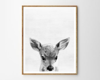 Baby deer print, Nursery, Animal, Kids room, Minimalist, Modern art, Wall art, Digital art, Printable, Instant Download 8x10, 11x14,16x20