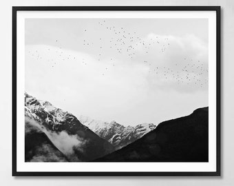 Landscape, Scandinavian art, Nature print, Minimalist, Modern art, Wall decor, Printable art, Digital art Instant Download 8x10, 11x14,16x20