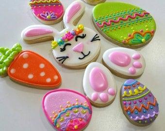 Easter cookies, Easter Bunny, Easter egg, carrot, bunny tracks, bunny footprint, Easter candy, Easter party,Easter gift