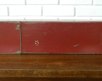 Rustic Bank Box, Industrial Safety Deposit Box Wall Shelf, Repurposed Bank Box, Upcycled Wall Shelf, Up Cycled Wall Shelf