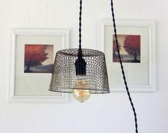Wire Basket Pendant Light, Deep Fryer Basket