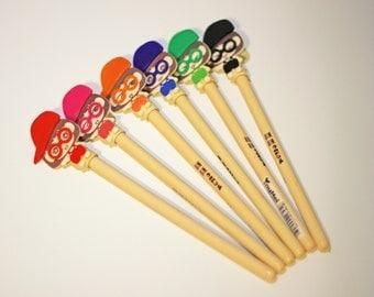 Set of 6 - Geeky Girl Pen