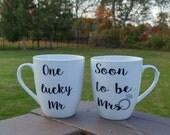2 Personalized Engagement Coffee Mug/ Engagement Gift/ Coffee Mug/ Custom Coffee Mug.. TOP SELLING ITEM!!!