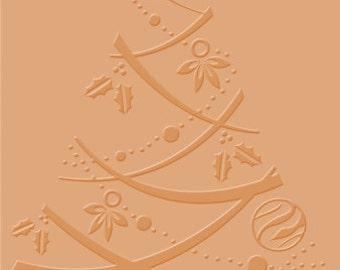 "Craft Concepts - 4""x6"" Embossing Folder - Festive Tree"