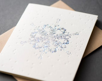 Holographic Snowflake Greeting Card