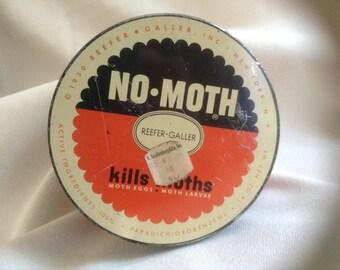 Vintage No-Moth Hanging Tin