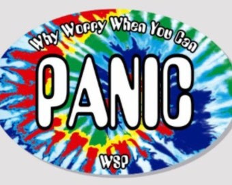 """Widespread Panic Sticker """"Why Worry When You Can Panic"""""""