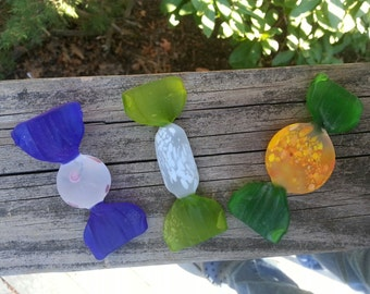 Murano Glass Candies. glass candies, murano glass, vintage glass