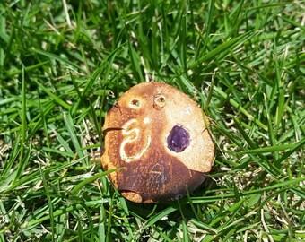 Avocado seed pendants