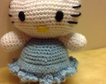 Crochet Hello Kitty,  Stuffed Toy