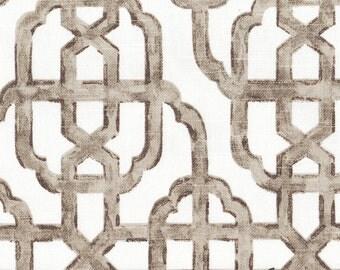 Duvet Cover Imperial Bisque Gray Lattice, Reversible