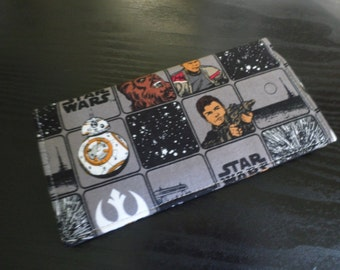Star Wars Fabric Checkbook Cover, NEW Handmade FREE Shipping