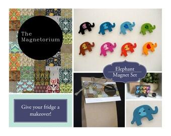 Elephant Fridge Magnet Set