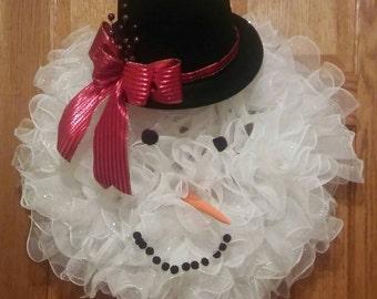 Snowman, Snowman Wreath, Christmas, Christmas Wreath, Holiday Wreath, Frosty, Winter Wreath, Christmas Decoration, Winter Decoration