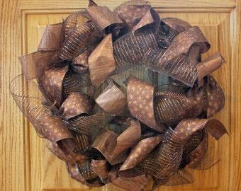 Deep Brown Toned Wreath