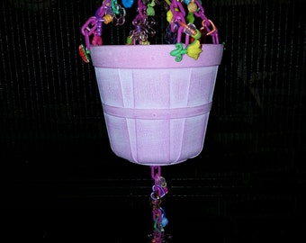 Pink Spring Farmers Basket Hanging Sugar Glider Toy