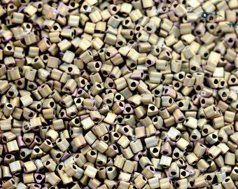 TOHO 11/0 Triangle Beads - Matte Color Iris Brown [TG-11-614]
