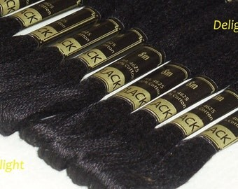 Beautiful 6 Black Anchor Floss - 6 Strand Embroidery Floss - Black Colour Thread/ Skein