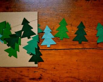 Tree Felt Garland, Christmas Tree Garland, Winter Tree Garland, Holiday Decor, Christmas Decor, Home Decor, Felt Garland