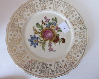 "Baronet F&B Bohemia 11"" Dinner Plate Made in Czechoslovakia (Pattern 1)"