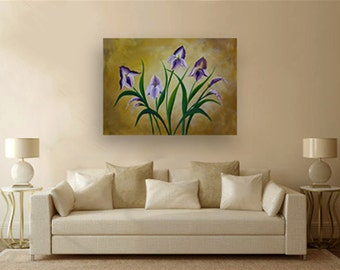 """Acrylic Painting on canvas - """"Beauty is in the Eyes of the Beholder"""" - Original art By Amit Yalin"""