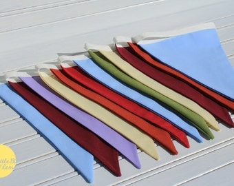 3m Random Solid Colours Double Sided Bunting