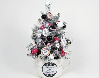 Wedding Decoration - Bridal Shower Gift - Bridal Shower Centerpiece - Wedding Gift -Miniature Tree -Tabletop Decoration -Bride & Groom Decor