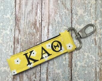 Kappa Alpha Theta Sorority Key Chain - Personalized KAO; Theta Sorority Key Fob