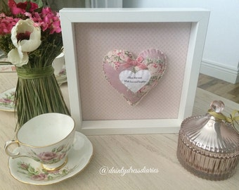 Shabby chic home decor frame. Bless this nest.