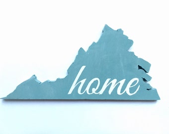 Virginia decor, rustic decor, wooden sign, wedding decor, house warming, newlywed, gift, wood sign