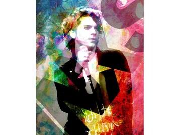 INXS, Michael Hutchence, Rock Band, Alternative Rock, New Sensation, New Wave, INXS Poster, INXS Hutchence, Rockstar, Pop Icon, Fortune