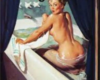 "2"" x 3"" Magnet Lets Take A Bath Pin-up Locker Magnet"