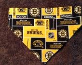 Boston Bruin Inspired dog bandanna dog bandanna sports bandanna hockey bandana