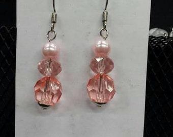 Pinky Peach Earrings