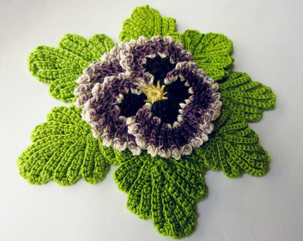 Free Crochet Pattern For Small Leaf