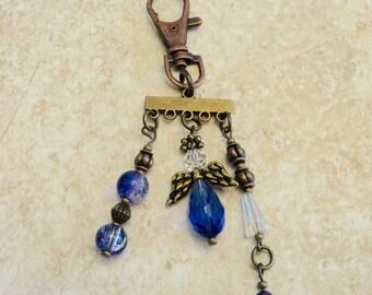 Blue Angel Charm, Blue Angel Key Clasp
