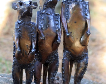 Meerkat metal sculptures
