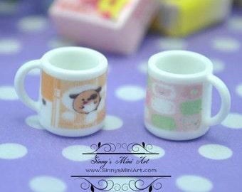 A Pair of 1:12 Dollhouse Miniature Mud A4