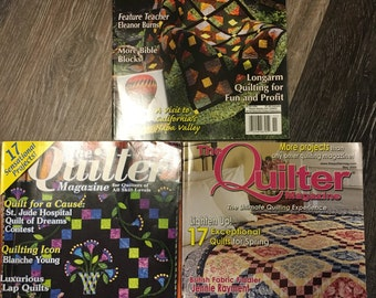 3 The Quilter Magazines - July 2003, November 2003, May 2005