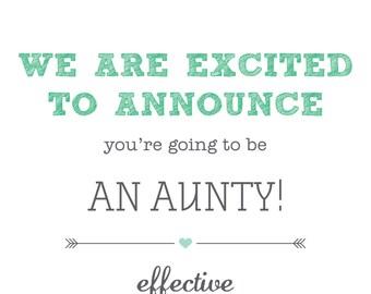 Printable, customisable - Pregnancy announcement