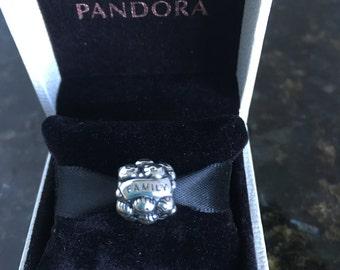 Pandora Love & Family Sterling Silver  Charm Bead  # 791039