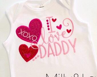 Valentine's day top - I love Daddy!