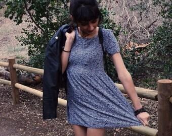 Dark Floral Mini Dress